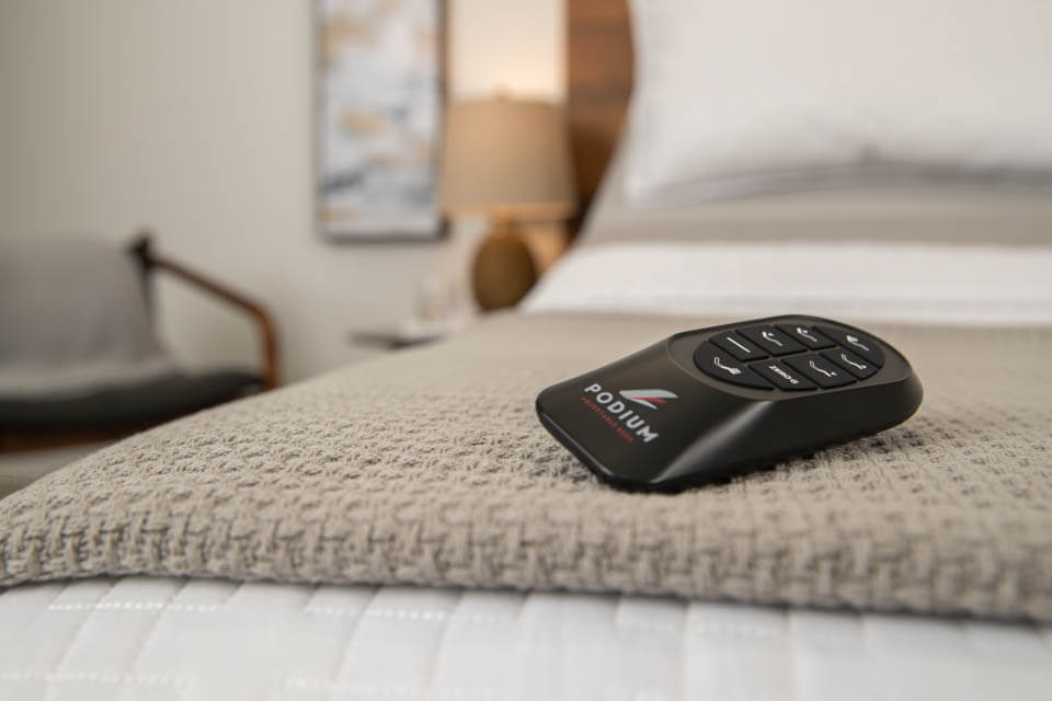 Podium Adjustable Bed Base Wireless Remote Control | Podiumbed.ca